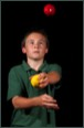 Juggler in one of our Circus workshops for schools