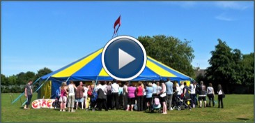 Video of a Circus Skills Day in a School with our Circus tent at a school in Rotherham