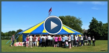 Video of a Circus workshop Day in a School with our Circus tent in salford